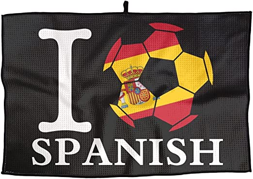 Ruin - Toalla de Golf con Bandera de España para Actividades al Aire Libre, Toallas Portátiles para Hombre y Mujer: Amazon.es: Hogar