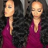 Belinda Hair 10-28inches Brazilian Body Wave Virgin Hair 3 Bundles, Grade 7A Unprocessed Human Hair Weave Hair Extensions Natural Color 95-100g/pc