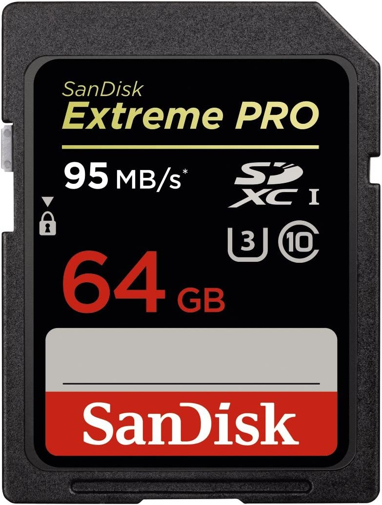 SanDisk Extreme PRO 64GB up to 95MB/s UHS-I/U3 SDXC Flash Memory Card - SDSDXPA-064G-X46