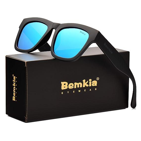 44c9ccffe4 Wayfarer Bemkia Sunglasses Men Polarized Women Ice Blue 58mm Len Plastic  Plastic Frame