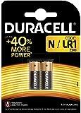 Pile alcaline Duracell spéciale N 1,5V, pack de 2 (E90 / LR1), conçue pour une utilisation dans les lampes de poche, calculatrices et phares de vélo