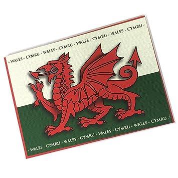Welsh dragon flag welsh greetings card blank inside bl1 amazon welsh dragon flag welsh greetings card blank inside bl1 m4hsunfo