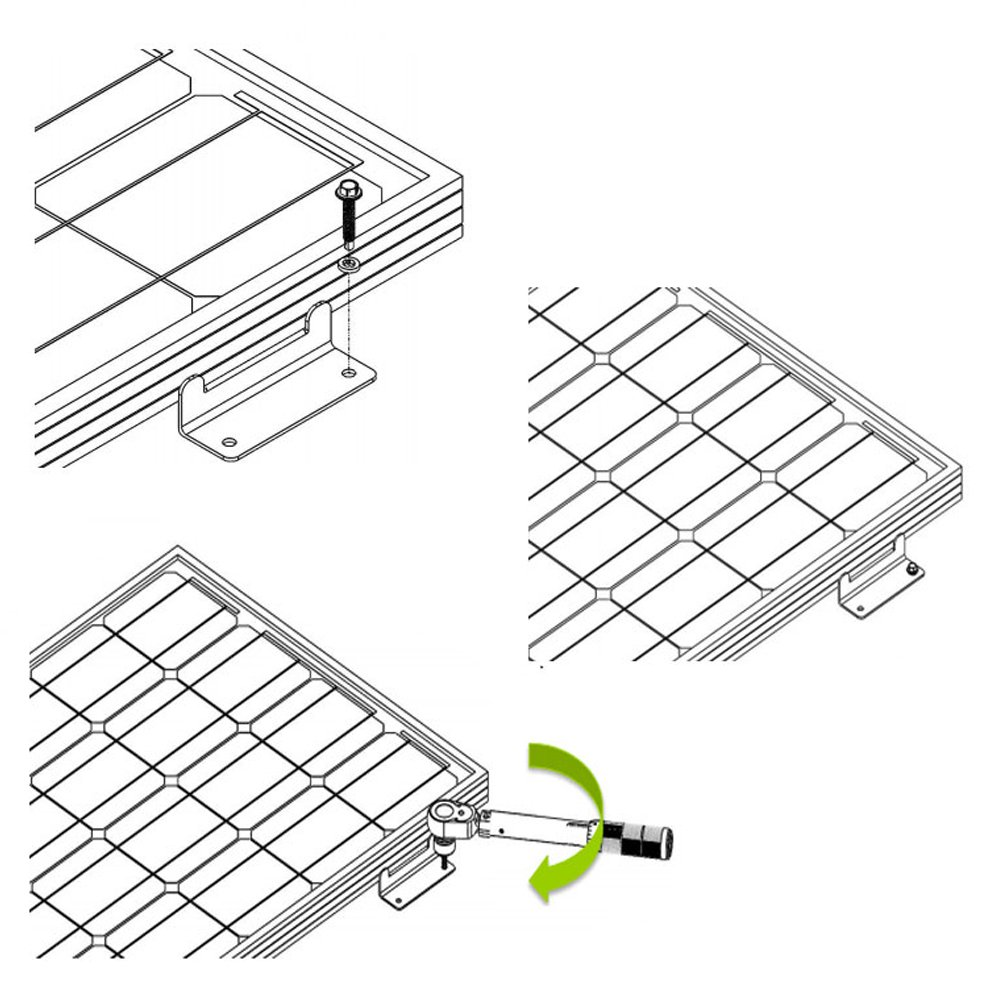 hqst solar panel mounting z brackets with nuts and bolts  u2013 4 sets of rv  boat  roof  wall and