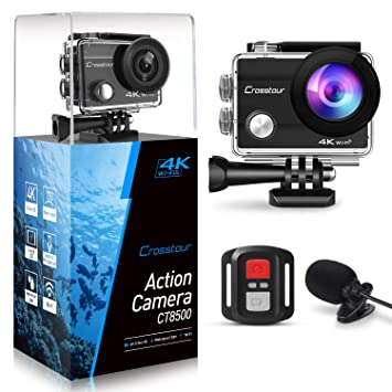 Amazon.com: Crosstour - Cámara de acción 4K, 16 MP, WiFi ...