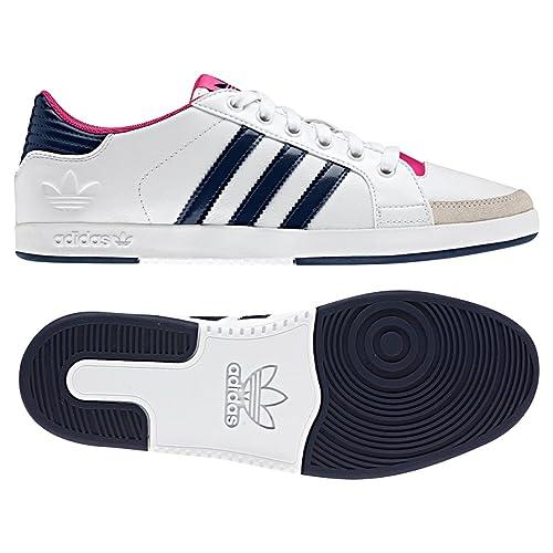 best sneakers 2f085 5d8dd adidas - Zapatillas de Piel para Mujer 36, Color Blanco, Talla 42 23 EU   8.5 UK  10 US Amazon.es Zapatos y complementos