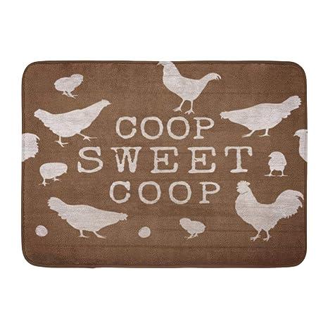Amazon Com Custom Doormats Coop Sweet Chickens Home Door Mats 18 X