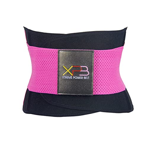 YonBii Breathable Waist Shaper Adjustable Cincher Belt Pink Elastic Workout Sportswear for Women XS-3XL
