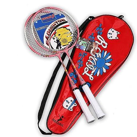 Amazon.com: Badminton - Juego de raquetas para niños (1 par ...
