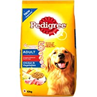 Pedigree Adult Dog Food Chicken & Vegetables, 10 kg Pack