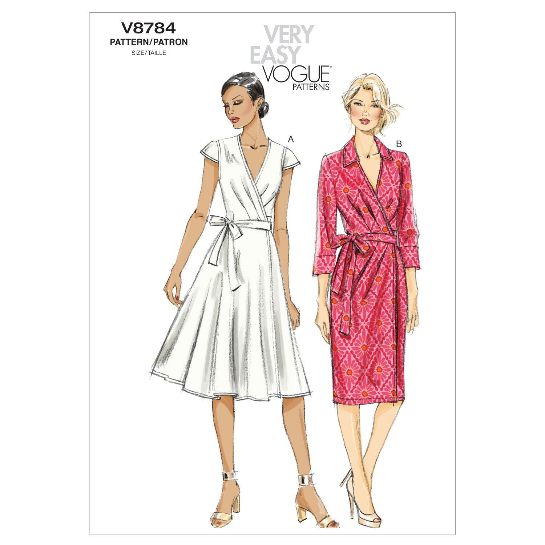 Vogue Patterns V8784 - Patrones de costura para vestidos de mujer ...