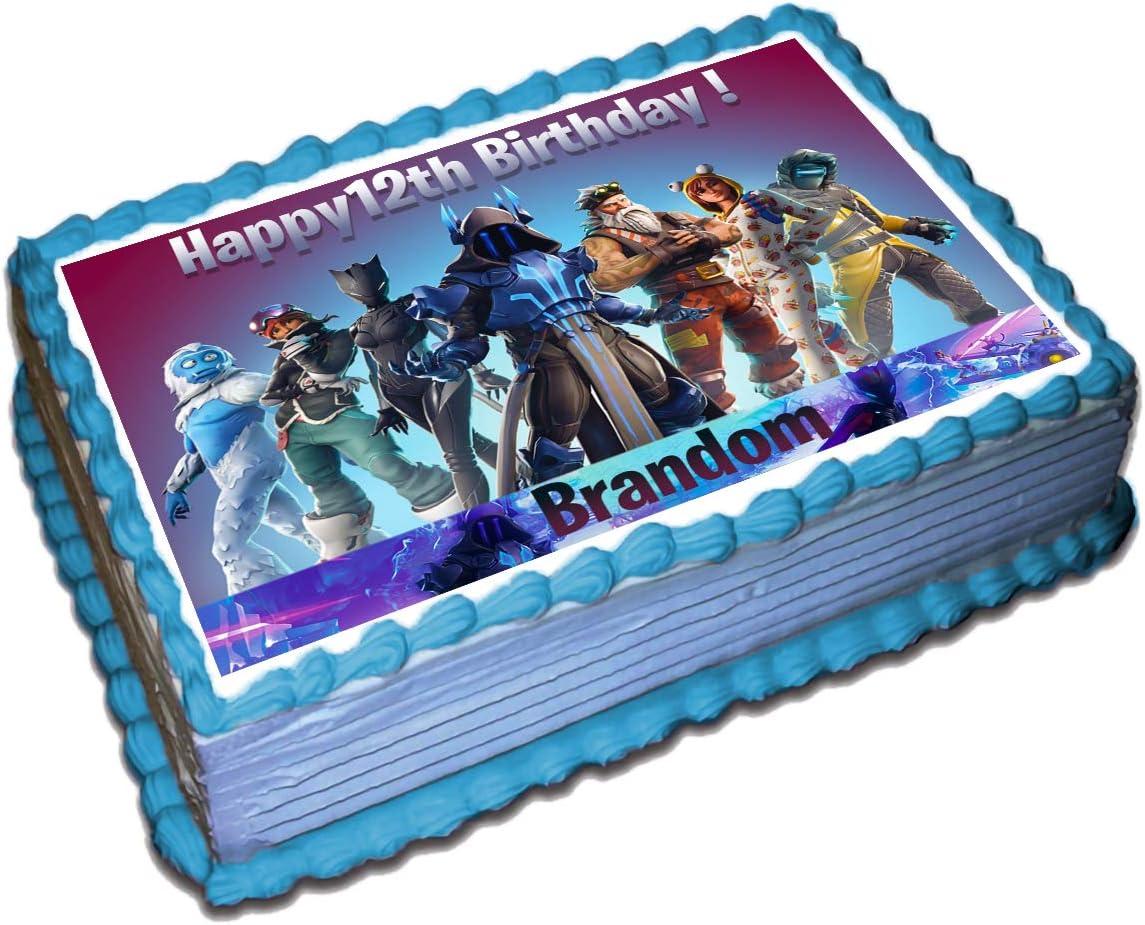 Fortnite Season X Personalised Edible Cake Toppers /& Cupcakes