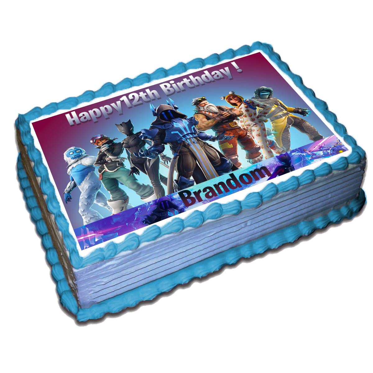 Fortnite (7 Season) Personalized Cake Toppers Icing Sugar Paper 8.5 x 11.5 Inches Sheet Edible Frosting Photo Birthday Cake Topper Fondant Transfer (Best Quality Printing)