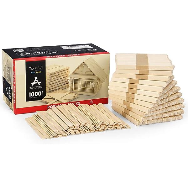 Amazon Com Chenille Kraft Natural Wood Craft Sticks Jumbo