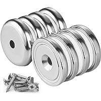 Wukong Pot Magnets 8 Paquetes N52 Base redonda fuerte Imán de avellanado de neodimio Imán Ganchos magnéticos Fuerza de…