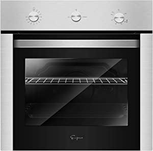 "Empava 24"" Stainless Steel Built-in NG/LPG Convertible Broil/Rotisserie Function Under Counter Gas Single Wall Ovens EMPV-24XWOD04, 24 Inch"