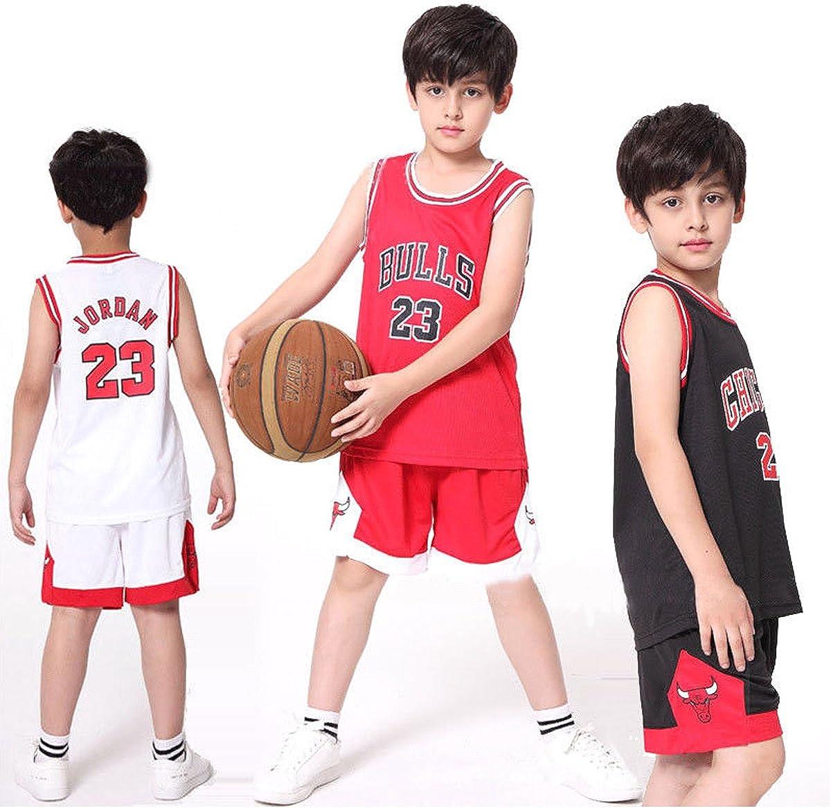 Chico Hombre NBA Michael Jordan # 23 Chicago Bulls Retro Pantalones Cortos de Baloncesto Camisetas de Verano Uniformes y Tops de Baloncesto Uniformes: Amazon.es: Ropa y accesorios