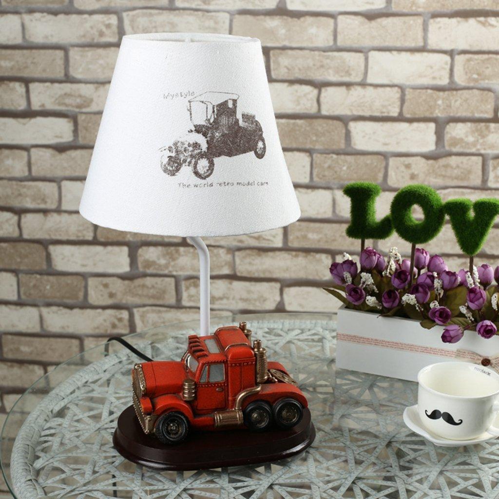 HRMAOI®,Geschenke, Nachttischlampen, moderne Art und Weise, rot Jahrgang Spielzeugauto Modelle, kreative Schlafzimmer dekorative Lampe, B-37CM B06W2LP7QV Fahrzeuge & Rennwagen Clever und praktisch | Exzellente Verarbeitung
