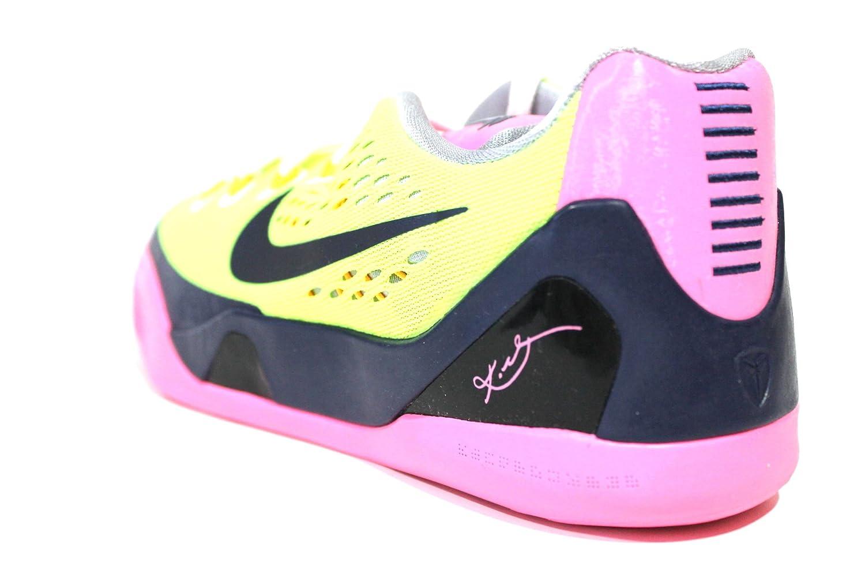 d0bfc8a411b4 ... fast delivery e86a3 72f2a Amazon.com Nike Youth Kobe IX EM GS Volt  Yellow Pink ...