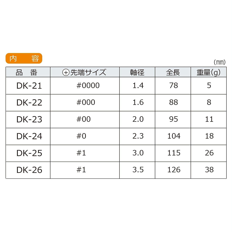 Juego de 6 piezas de mini destornilladores Phillips de precisión (alta calidad, fabricado en Japón) Engineer Dk-20