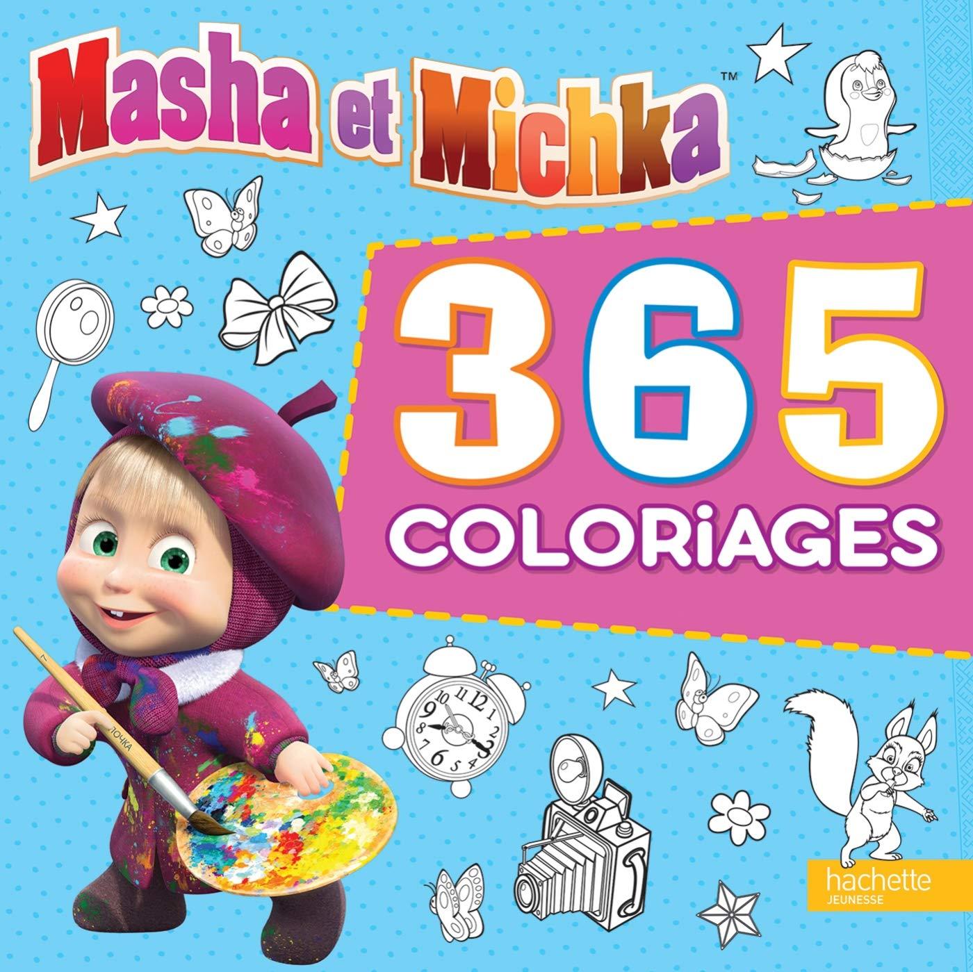 Masha Et Michka 365 Coloriages Amazon Fr Hachette Jeunesse Livres