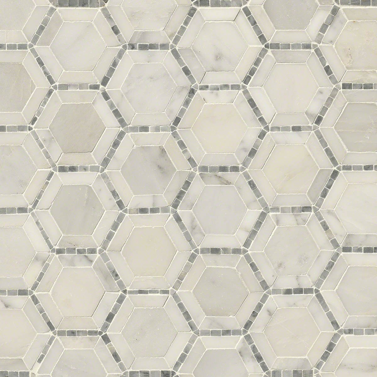 Telaio 2'' Hexagon Honed Marble Mosaic Tile