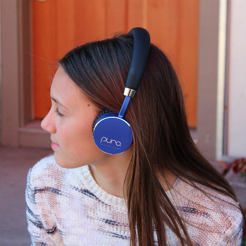 Puro Sound Labs BT2200 Kids Volume-Limiting Over-Ear Wireless Headphones (Blue)