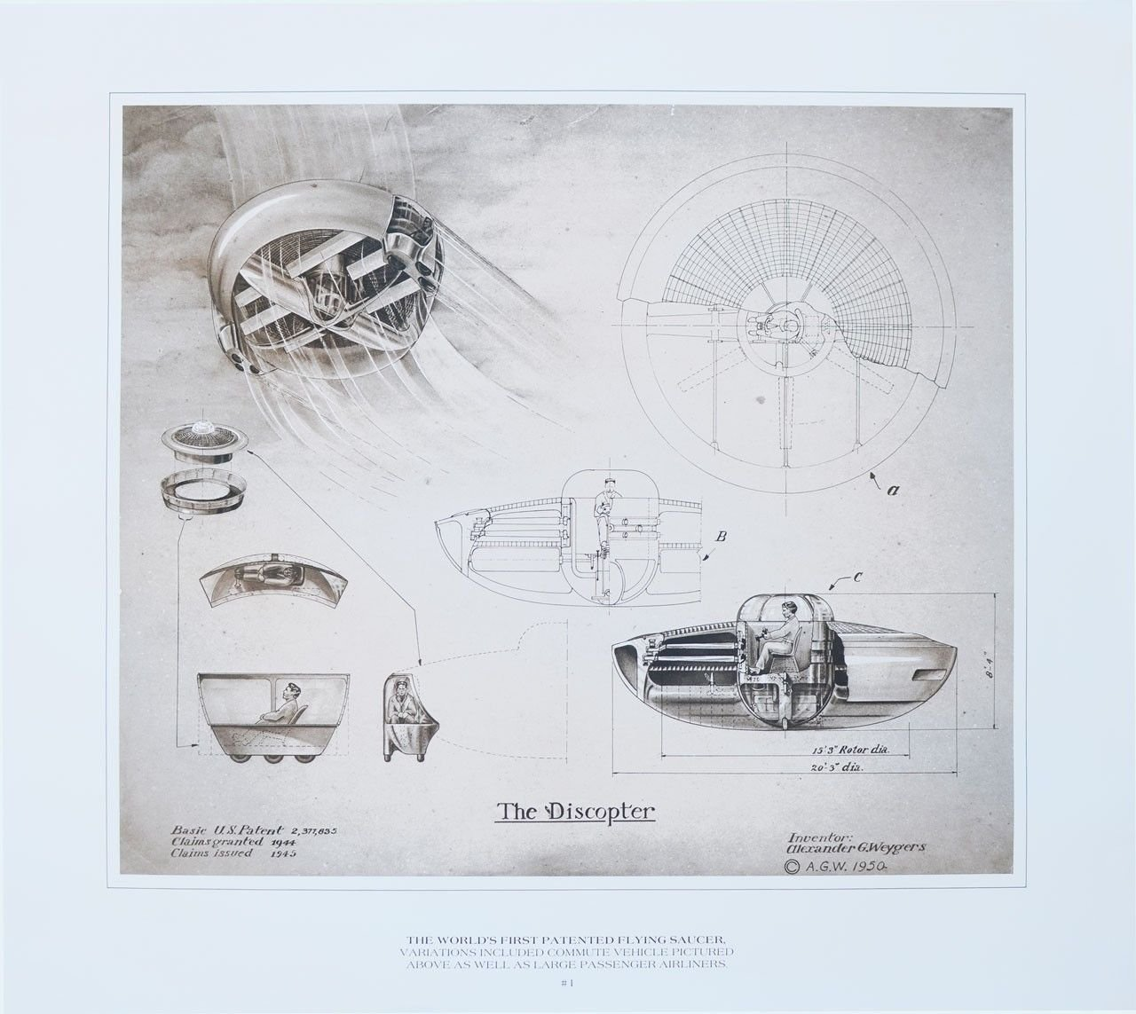 The Discopter Patent: World's First Patented Flying Saucer by
