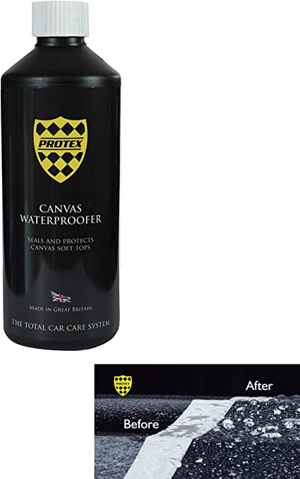 Protex World Convertible Soft Top Canvas Waterproofer 500ml Specially Formulated To Seal And Protect Your Canvas