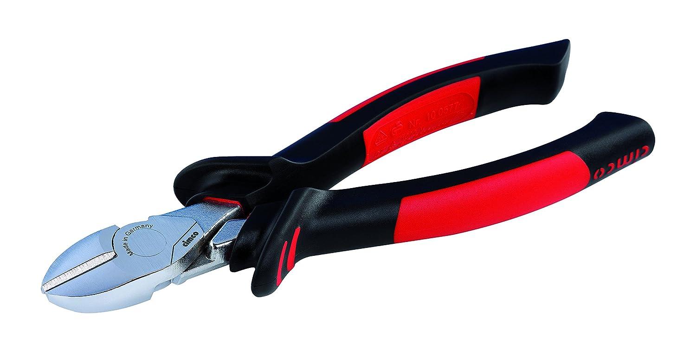 Cimco 10 0577 - Alicates (Alicates de corte diagonal, Resistente a golpes, Plá stico PU, Acero, De plá stico, Negro/Rojo, 18 cm) Plástico PU De plástico 100577