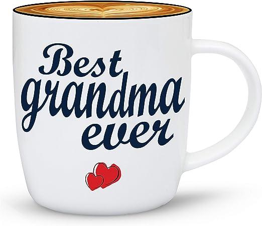 Amazon.com: janazala Best Grandma nunca Taza, Taza de café ...