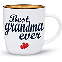 Gifffted Best Grandma Ever Coffee Mug, Gift for Grandmother Birthday, Anniversary and Mothers Day Gifts, Ceramic, 13 oz Cup