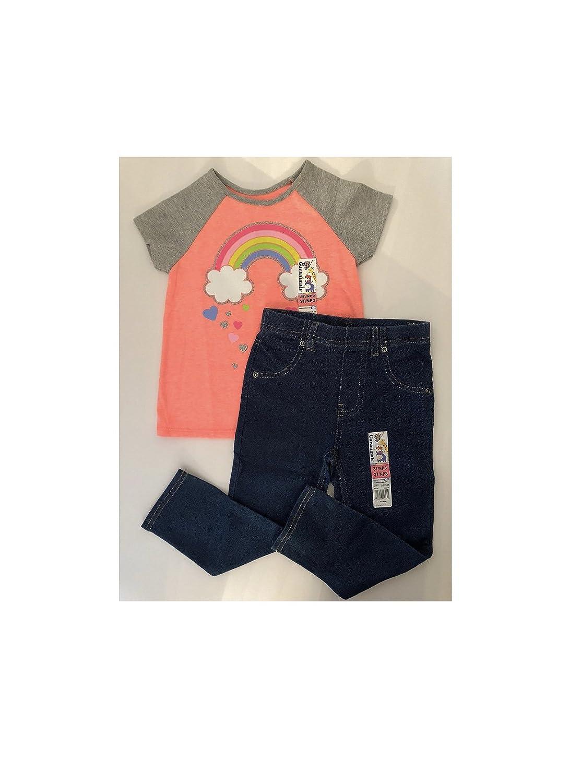 19746630b4189 Garanimals Baby Girls' Short Sleeve Graphic T-Shirt and Leggings,Size 3T(