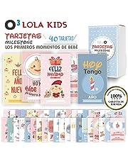 O³ Milestone Baby Cards Lola Kids – 40 Cartas En Español Para Primer Año De Bebé