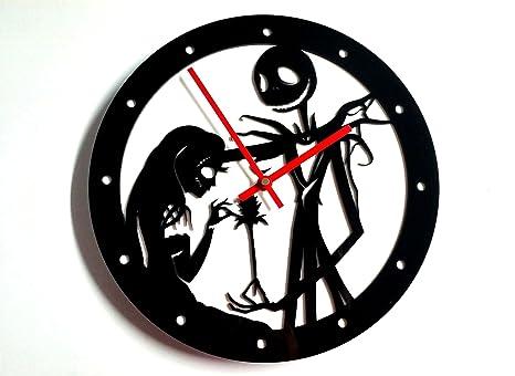 Reloj de pared original Jack y Sally, metacrilato, silencioso, moderno