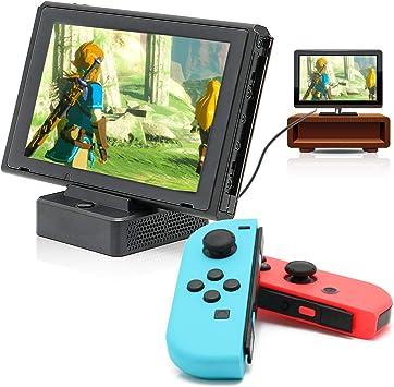 Switch HDMI Dock, HDMI Convertidor Dock para Nintendo Switch con puerto USB 3.0, base de repuesto