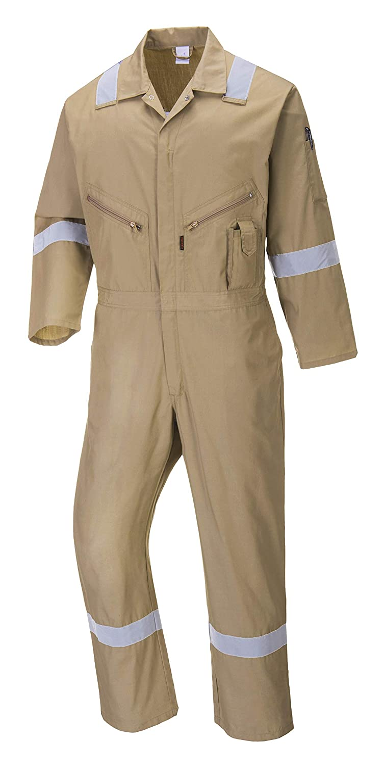 Portwest C814RERL Iona Cotton Coverall Large Red Fabric