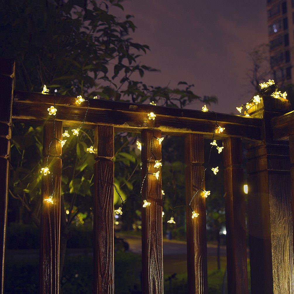 [8 Modes] Solar String Lights, 50 LED 22ft Flower Party Light Solar Garden Lights, Waterproof Decorative Lighting Floor Lamp for Garden, Patio, Yard, Home, Christmas Tree, Parties