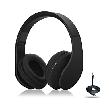 SDTWRWEG Bluetooth Headphones, 4 in 1 Upgrade Bluetooth Foldable Over-Ear Headsets with Micro Support SD/TF Card for Bluetooth-Enabled Devices