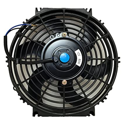 10 Inch, Black Upgr8 Universal High Performance 12V Slim Electric Cooling Radiator Fan With Fan Mounting Kit