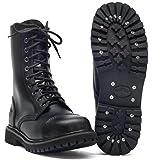 10 Trou Rangers Bottes bottes avec embout en acier Couleur Noire ou Bordeaux Chaussure à lacets