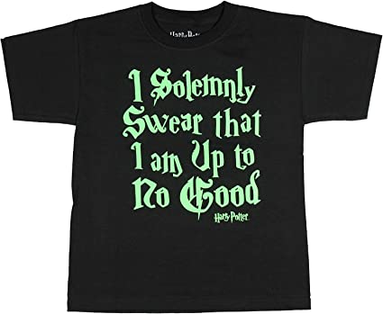 I SOLEMNLY SWEAR IM UP TO NO GOOD MENS T SHIRT TEE FUNNY POTTER WIZARD FAN GIFT