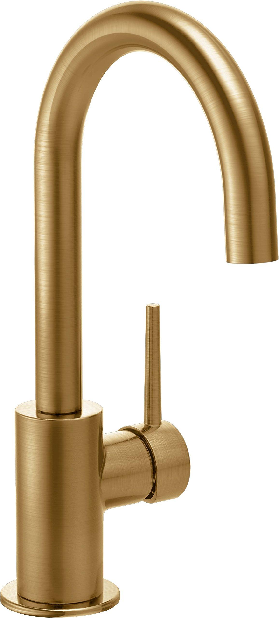 Delta Faucet Trinsic Single-Handle Bar-Prep Kitchen Sink Faucet, Champagne Bronze 1959LF-CZ by DELTA FAUCET