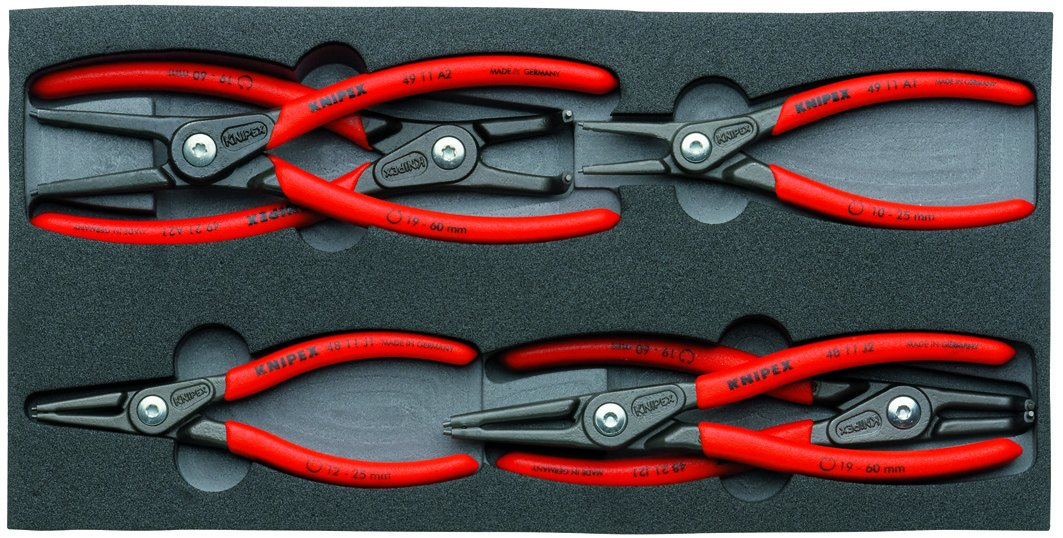 Knipex 00 20 01 V02 Circlip Snap-Ring Pliers Set (6 Piece) by KNIPEX Tools
