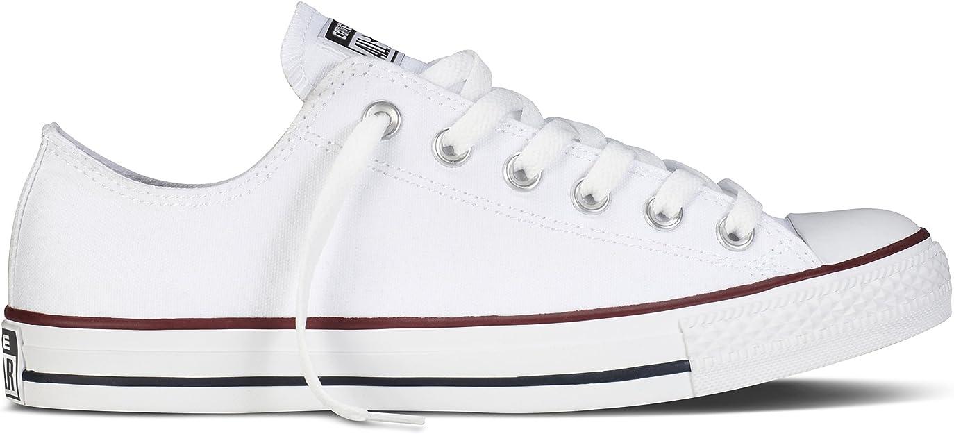 Converse Unisex Chuck Taylor All Star Low Basketball Shoe (6.5 B(M) US Women/4.5 D(M) US Men, Optical White)