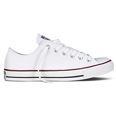 87d2e5304834 Converse Unisex Chuck Taylor All Star Ox Low Top Optical White Sneakers - 5.5  B(