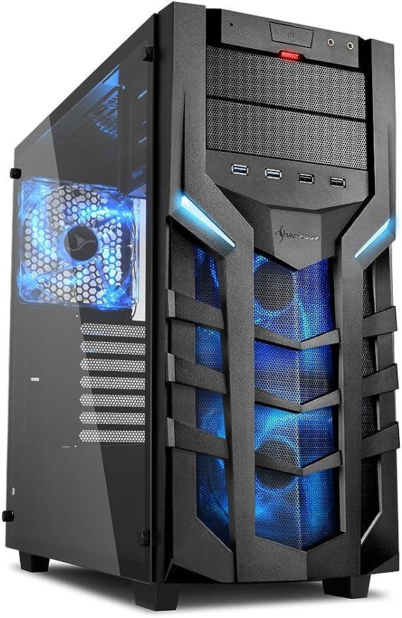 Sharkoon DG7000-G – Caja de Ordenador, PC Gaming, Semitorre ATX, Negro/Azul: Sharkoon: Amazon.es: Informática