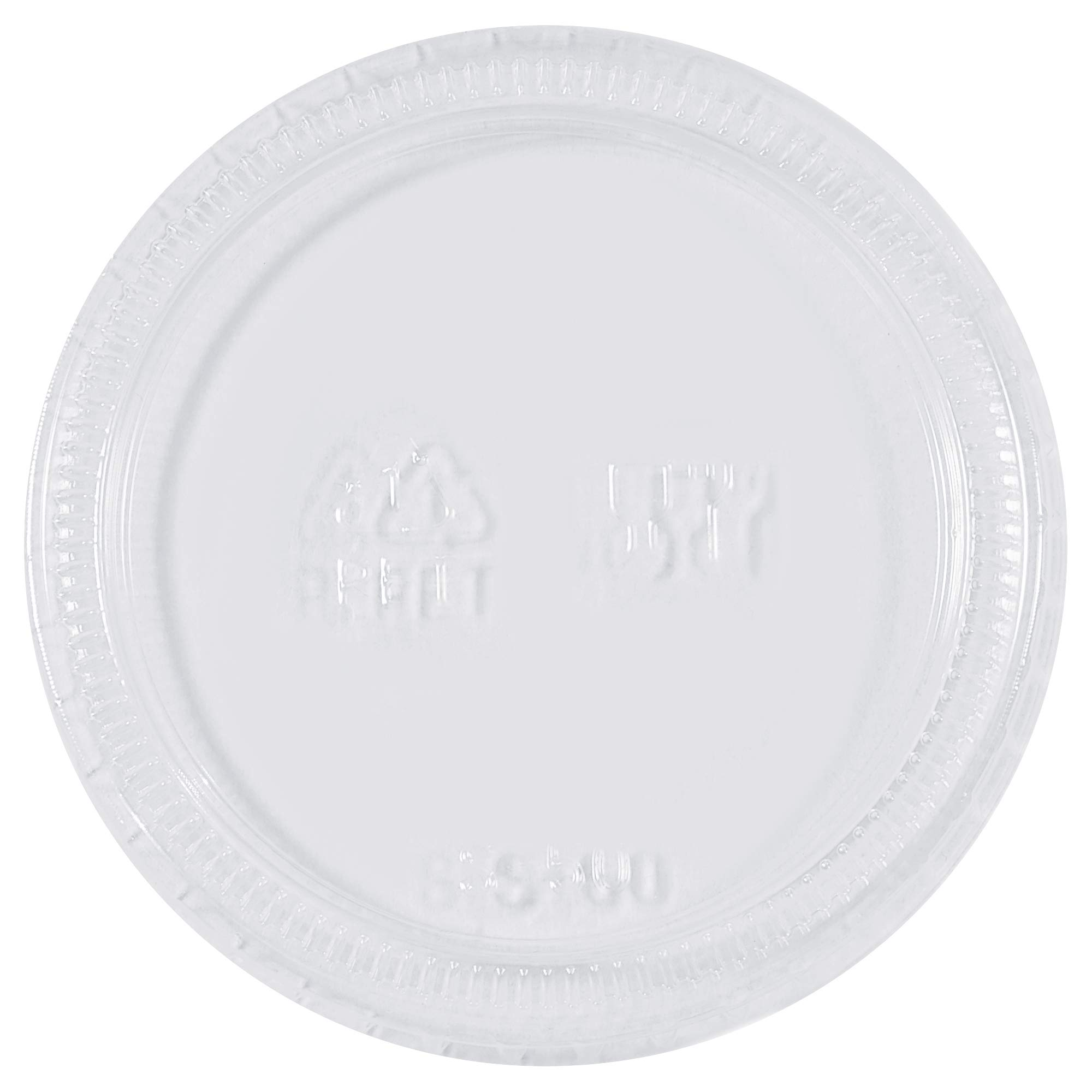 Plastic Portion Cup Lids, 3.25 and 4 oz, Clear, 2500/Case
