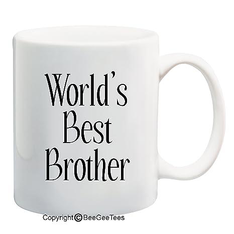 Amazon.com: World s Best Brother – Café o Té Taza 11 o 15 ...