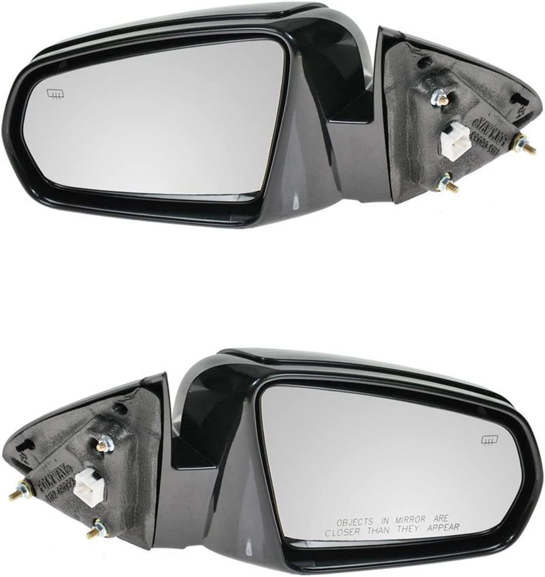 Side View Mirror Power Fixed Smooth Black Driver Left LH for 07-10 Sebring Sedan