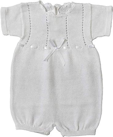 Baby/'s Trousseau Short Sleeve Ribbon Knit Romper A1298